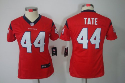 nike women nfl houston texans #44 tate red [nike limited]