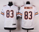 nike chicago bears #83 bennett white elite jerseys
