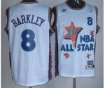 nba 95 all star #8 barkley white jerseys