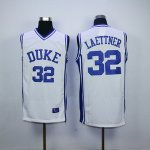 ncaa duke blue devils #32 christian laettner white jerseys