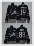 Hockey San Jose Sharks Stitched adidas Black 1917-2017 100th Anniversary Jersey