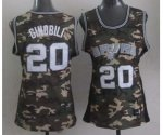 women nba san antonio spurs #20 ginobili camo jerseys