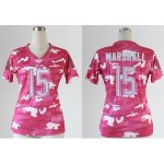 nike women nfl chicago bears #15 marshall pink [fashion camo]