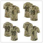 Football Houston Texans Stitched Camo Salute to Service Limited Jersey