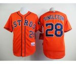 mlb houston astros #28 singleton orange jerseys