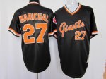 mlb san francisco giants #27 marichal m&n black[orange number] T