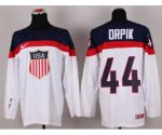 nhl team usa olympic #44 orpik white jerseys [2014 winter olympi