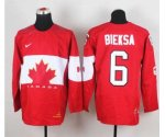 nhl team canada #6 bieksa red [2014 world championship][bieksa]