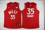 2016 nba all star oklahoma city thunder #35 kevin durant red red