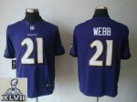 2013 super bowl xlvii nike baltimore ravens #21 webb purple [nik