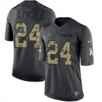 men nike oakland raiders #24 marshawn lynch black salute to service 2016 stitched nfl limited jersey