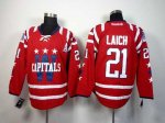 nhl washington capitals #21 laich red [2014 new]
