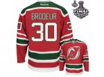 nhl new jersey devils #30 brodeur red and green [2012 stanley cu