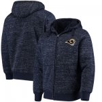 Football Los Angeles Rams G III Sports By Carl Banks Discovery Sherpa Full Zip Jacket Heathered Navy