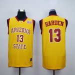 ncaa arizona state #13 james harden yellow vintage jerseys