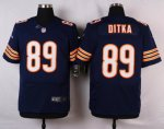 nike chicago bears #89 ditka blue elite jerseys