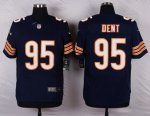 nike chicago bears #95 dent blue elite jerseys