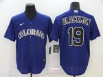 Men's Colorado Rockies #19 Charlie Blackmon Purple 2020 Stitched Baseball Jersey