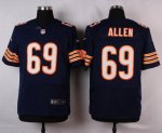 nike chicago bears #69 allen blue elite jerseys