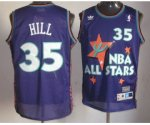 nba 95 all star #35 hill purple jerseys