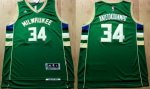 NBA Jersey Milwaukee Bucks #34 Giannis Antetokounmpo Green Stitc