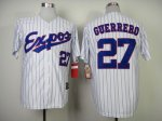 mlb montreal expos #27 guerrerd white m&n 2000 [blue strip]