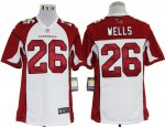nike nfl arizona cardinals #26 wells white jerseys [game]