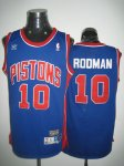 nba detroit pistons #10 rodman blue cheap jerseys [swingman]