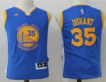 youth golden state warriors #35 kevin durant adidas blue jerseys