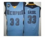 nba memphis grizzlies #33 gasol lt.blue [revolution 30]