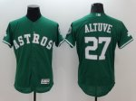 mlb houston astros #27 jose altuve green majestic flexbase authentic collection jerseys