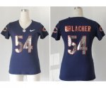 nike women nfl chicago bears #54 urlacher blue [sequins fashion]