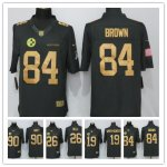 Football Pittsburgh Steelers All Players Option Anthracite Salute To Service Limited Jersey