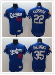 Baseball Los Angeles Dodgers #35 Cody Bellinger #22 Clayton Kershaw Royal 2018 Spring Training Cool Base Jersey And Flex Base Jersey