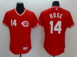 Men's MLB Cincinnati Reds #14 Pete Rose Red Flexbase Authentic Collection Cooperstown Jersey