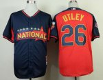 mlb philadelphia phillies #26 utley blue-red [2014 all star jers