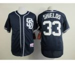 mlb jerseys san diego padres #33 shields blue[sd]