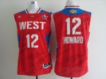 2013 all star los angeles lakers #12 dwight howard red jerseys