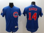 mlb chicago cubs #14 ernie banks majestic blue flexbase authentic collection jerseys