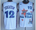 nba 95 all star #12 stockton white jerseys