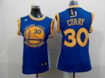 women nba golden state warriors #30 curry blue jerseys