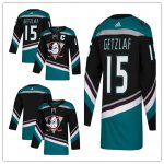 Hockey Anaheim Ducks adidas Alternate Authentic Black and Teal Jersey
