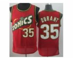 nba seattle supersonics #35 durant red jerseys