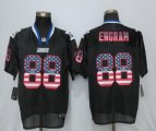 Men NFL New York Giants #88 Evan Engram Nike Black 2017 Draft Pick USA Flag Fashion Elite Jerseys