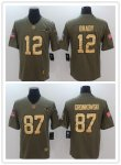 Football New England Patriots Stitched Olive and Gold 2017 Salute to Service Limited Jersey