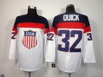 nhl team usa olympic #32 quick white jerseys [2014 winter olympi