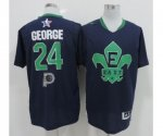 2014 nba all star nba indiana pacers #24 george blue jerseys