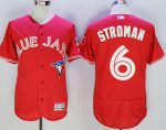 mlb toronto blue jays #6 marcus stroman majestic red flexbase authentic collection jerseys