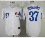 mlb montreal expos #37 rodgers m&n white jerseys