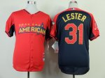 mlb boston red sox #31 lester red-blue [2014 all star jerseys]